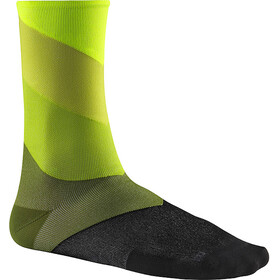 Mavic Graphic Stripes Calcetines, verde/negro